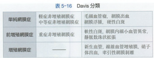 糖尿病網膜症分類Davis分類